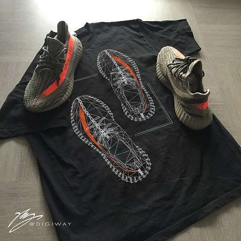 Yeezy Boost 350 v2 polygon tee