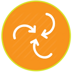 spinning recycle icon