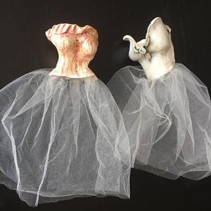 Anne and Elizabeth (Dress Sculptures)