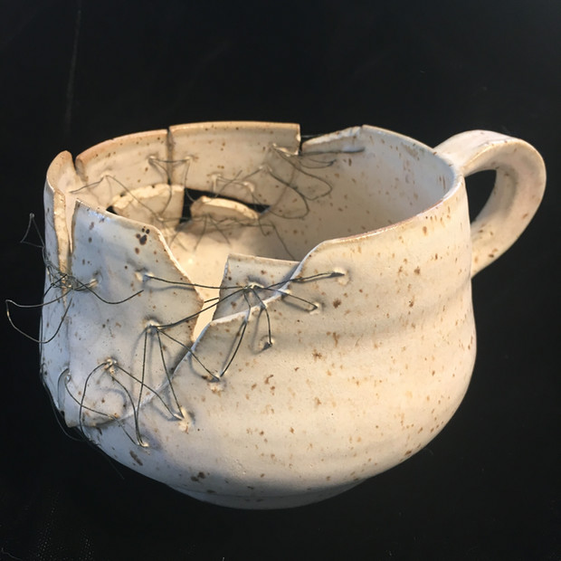 Mended cup (Alternate View)