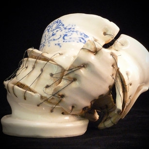 Mended Vessel with flowers