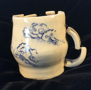 Mended  cup with clouds (Alternate View)
