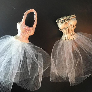 Cynthia and Rosemary (Dress Sculptures)