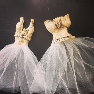Jill and Victoria (Dress Sculptures)