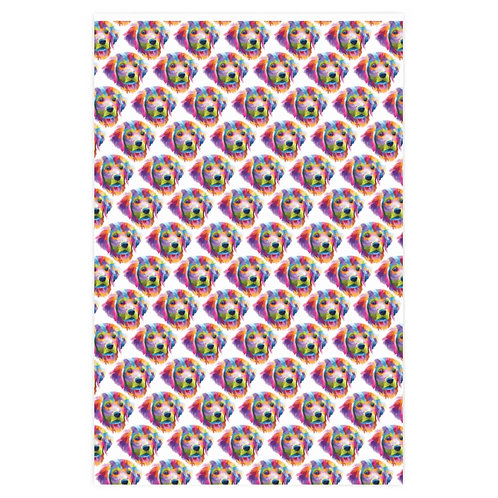 """""""Techno Pup"""" Fetch Social Wrapping Paper"""