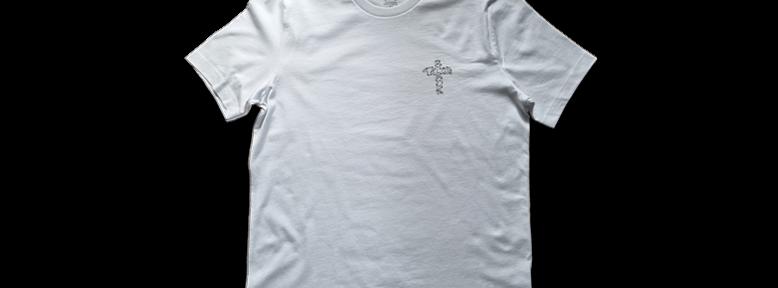 Black Talon Barbed Cross Tee (White)