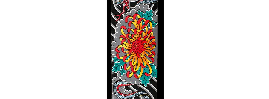 Chrysanthemum Snake Skateboard (1 of 1)