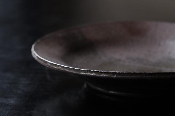鉄彩銘々皿 A8225