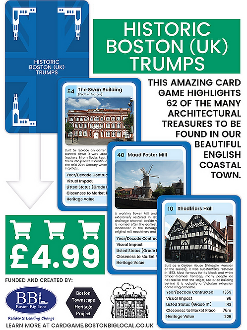 Historic Boston (UK) Trump Cards