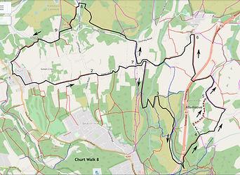Map of Churt Walk 8