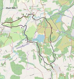 Map of Churt Walk 7