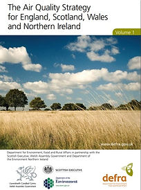 Front cover of the Defra Air Quality Strategy report