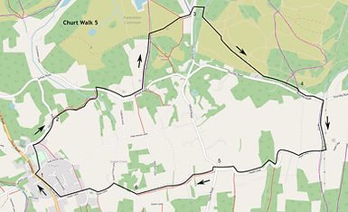 Map of Churt Walk 5