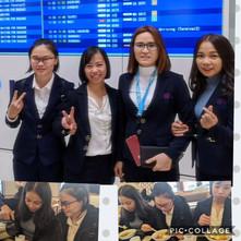 今日関西から入国した学生たちです。「念願の日本の生活がスタートします。仕事を頑張っていきたいです。」