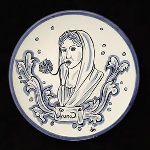 Pietro Librici, Spera - Plate, Overglaze ceramic, Ø=23 cm.