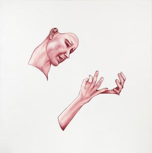 Pietro Librici, Compassione (Compassion), Oil on canvas, 100x100 cm.