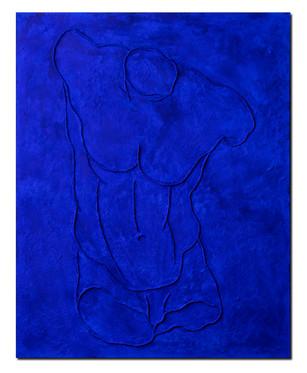 Pietro Librici, Torso Maschile (Male Torso), Mixed media on canvas, 100x80 cm.