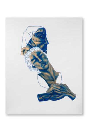Pietro Librici, Pugno al Cuore (Heartbreak), Oil on canvas, 80x100 cm.