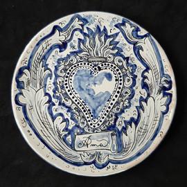 Pietro Librici, Ama - Plate, Overglaze ceramic, Ø=23 cm.