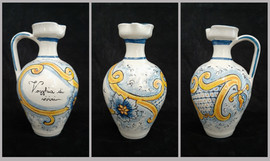 Pietro Librici, Vogghia di viviri - Flagon, Overglaze ceramic, h=21 cm Ø=13 cm.