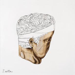Pietro Librici, Io Che Di Te Più Non Parlo (I No Longer Talk About You), Oil on cavas, 60x60 cm.