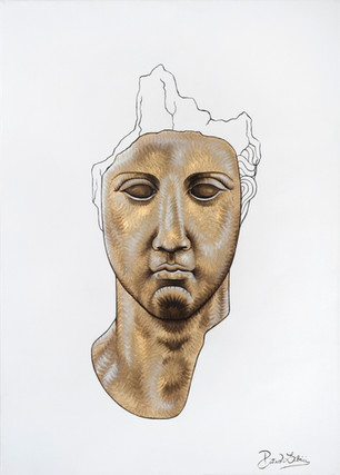 Pietro Librici, Testa n. 3 (Head n.3), Oil on canvas, 70x50 cm.
