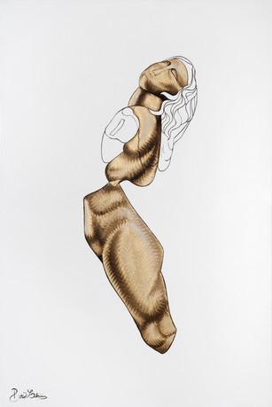 Pietro Librici, Menade Danzante (Dancing Maenad), Oil on cavas, 90x60 cm.