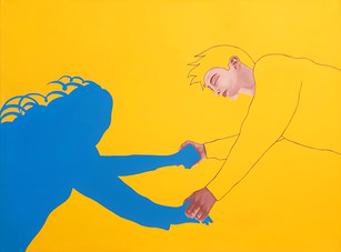 Pietro Librici, Touch Me Now - Marry Go Round of Life, Oil on canvas, 100x75cm.