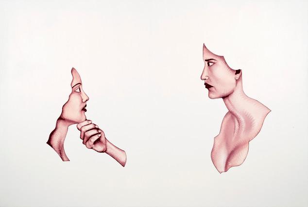Pietro Librici, Oltre il Dolore (Over the Pain), Oil on canvas, 100x80 cm.