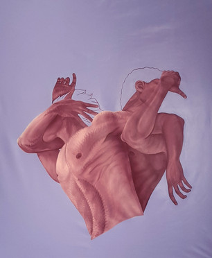 Pietro Librici, (Don't) Leave Me, Oil on canvas, 90x130 cm.