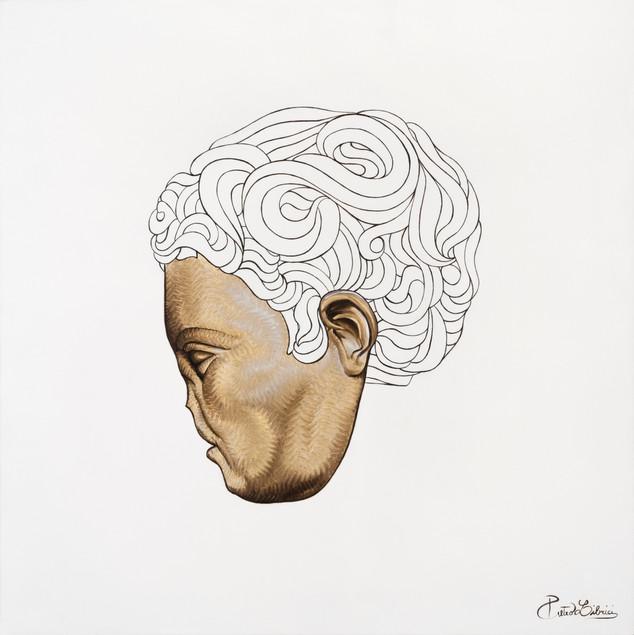 Pietro Librici, Io Che Di Te Più Non Sento (I No Longer Fell About You), Oil on cavas, 60x60 cm.