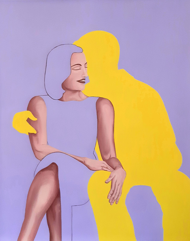 Pietro Librici, Touch Me Now - Getting Cozy, Oil on canvas, 80x100cm.