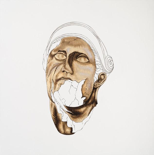 Pietro Librici, Testa di Schiavo (Slave's Head), Oil on cavas, 70x70 cm.