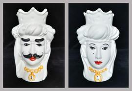 Pietro Librici, Dalì/Gala - Moro's Head, Overglaze ceramic, h= 14 cm Ø=8 cm.