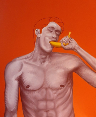 Pietro Librici, Banana Twin n. 2, Oil on canvas, 70x90cm.