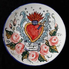 Pietro Librici, Sangu Meu - Plate, Overglaze ceramic, Ø=23 cm.