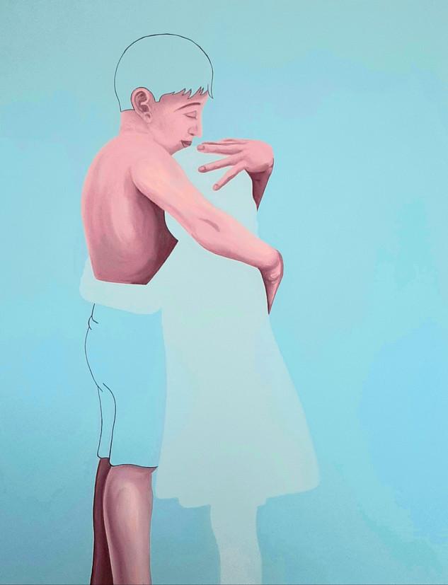 Pietro Librici, Touch Me Now - Ti Abbraccio, Oil on canvas, 70x90cm.