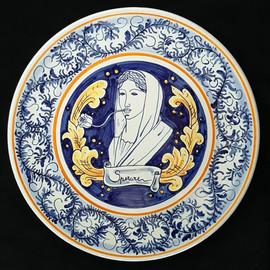 Pietro Librici, Sperare - Plate, Overglaze ceramic, Ø=37,5 cm.