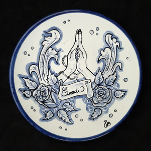 Pietro Librici, Credi - Plate, Overglaze ceramic, Ø=23 cm.