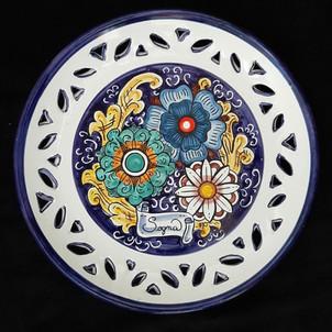 Pietro Librici,  Sogna - Plate, Overglaze ceramic, Ø=28,5 cm.