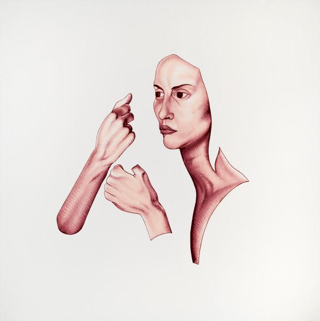 Pietro Librici, Ce la Faremo (You Will Get Throught It), Oil on canvas, 100x100 cm.
