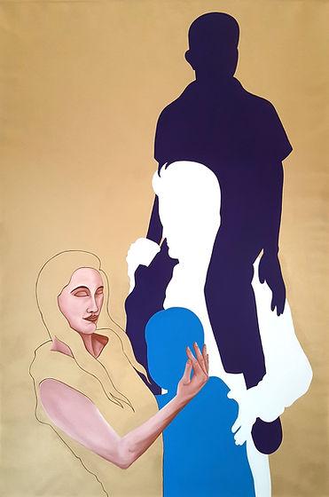 Pietro Librici, Lisa, Olio e vernice su tela, 150x100 cm.jpg