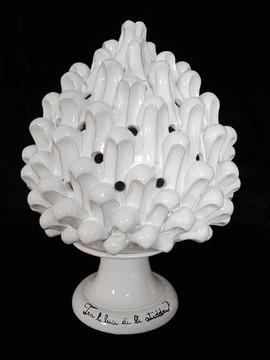 Pietro Librici, Lamp, Overglaze ceramic, h=36,5 cm Ø=29 cm.