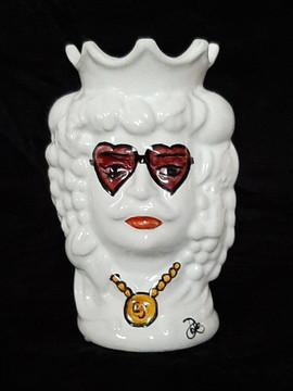 Pietro Librici, Rocket Man - Moro's Head, Overglaze ceramic, h= 14 cm Ø=8 cm.