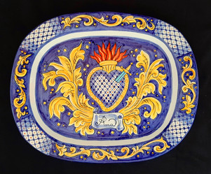 Pietro Librici, Ama - Plate, Overglaze ceramic, 43x35 cm.