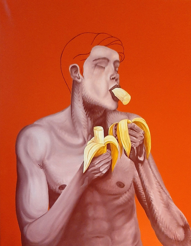 Pietro Librici, Banana Twin n. 1, Oil on canvas, 70x90cm.