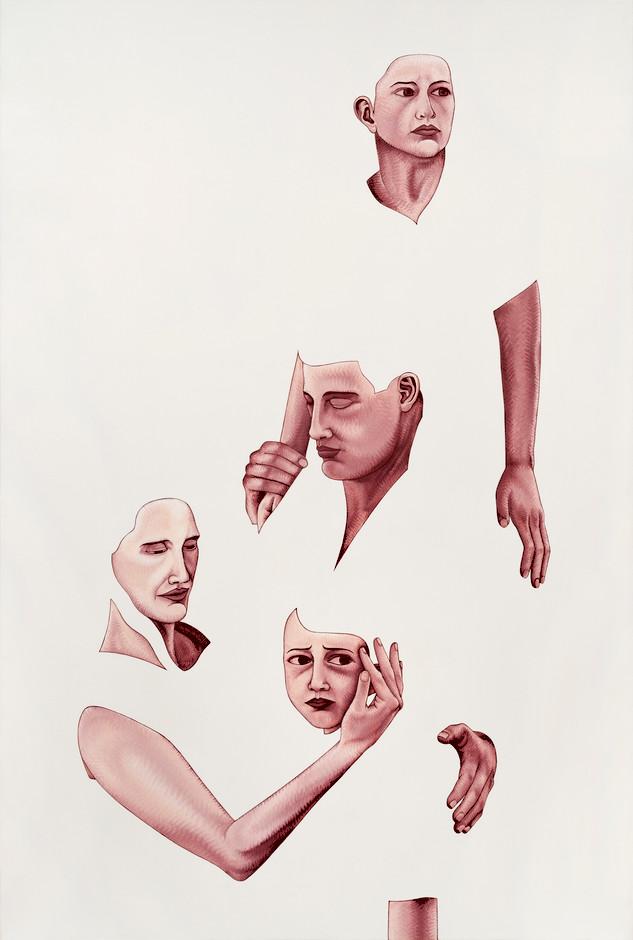 Pietro Librici, La Mia Famiglia (My Family), Oil on canvas, 150x100 cm.