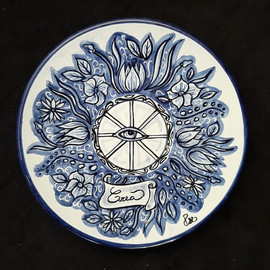 Pietro Librici, Crea - Plate, Overglaze ceramic, Ø=23 cm.