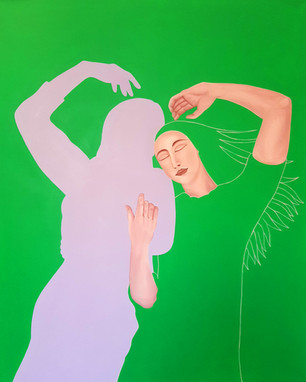 Pietro Librici, Touch Me Now - The Movement of Love, Oil on canvas, 80x100cm.