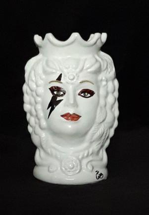 Pietro Librici, Lady Gaga - Moro's Head, Overglaze ceramic, h= 14 cm Ø=8 cm.